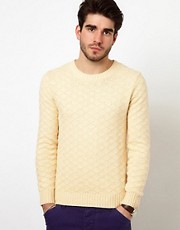 Gant Rugger Sweater with Self Pattern
