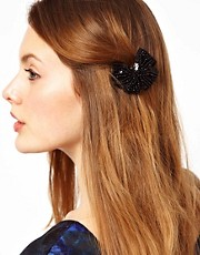 Orelia Sequin Bow Hair Clip