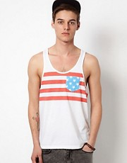 ASOS Vest With USA Flag Print