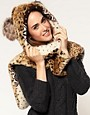Image 1 ofRiver Island Animal Ears Hooded Fleece Scarf