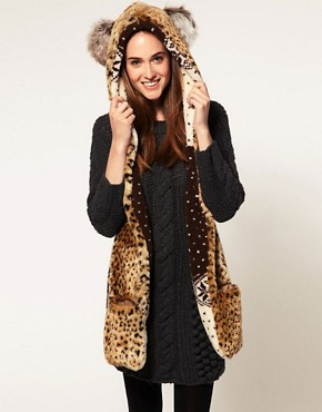 Image 4 ofRiver Island Animal Ears Hooded Fleece Scarf