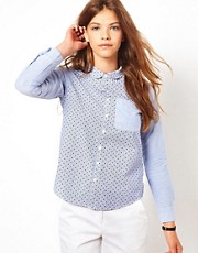 White Chocoolate Polka Dot Shirt