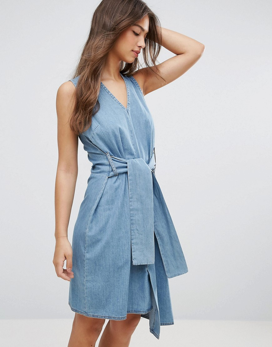 Cheap Monday Rizzle Asymmetric Dress - Fans blue