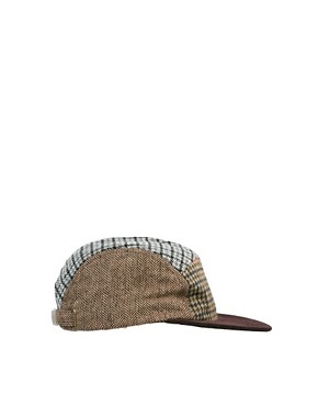 Image 2 ofASOS 5 Panel Cap With Mixed Tweed Panels