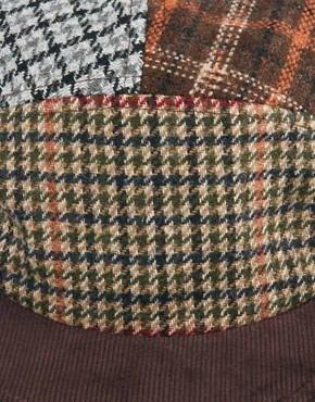 Image 4 ofASOS 5 Panel Cap With Mixed Tweed Panels