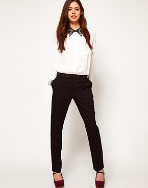 Image 1 ofASOS Trousers with Stud Waistband