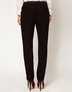 Image 2 ofASOS Trousers with Stud Waistband