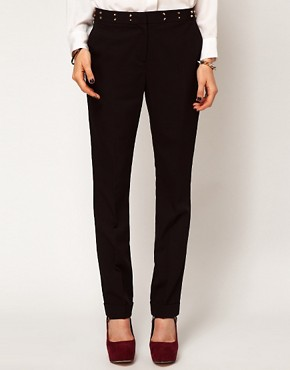 Image 4 ofASOS Trousers with Stud Waistband