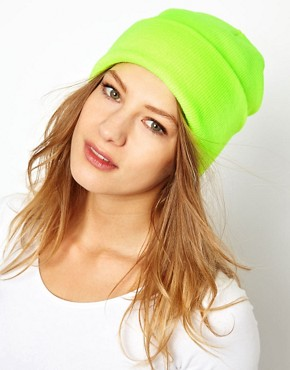 Image 1 ofAmerican Apparel Neon Cuffed Beanie