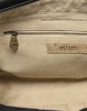 Image 2 of Matt & Nat Goldfrapp Pebble Large Bag With Zip Detail
