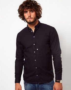 Image 1 ofPaul Smith Jeans Shirt with Small Polka Dot