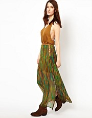 Dylan &amp; Rose Watercolour Print Maxi Skirt