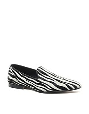 ASOS Loafers With Zebra Print
