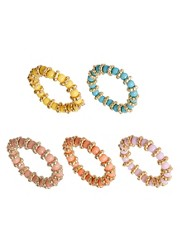 ASOS Multipack Bead Stretch Rings