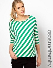 ASOS Maternity Exclusive Top In Diagonal Stripe