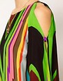 Image 3 ofMilly Multi Print Silk Shift Dress