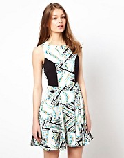 A Wear Skater Dress In Mexicana Print