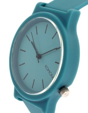 Image 4 ofKomono Fat Wizard Teal Watch With Plastic Strap