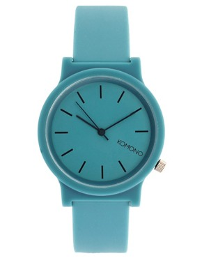 Image 1 ofKomono Fat Wizard Teal Watch With Plastic Strap