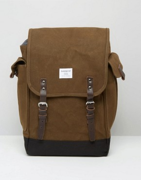 Sandqvist Bob Backpack In Waxed Canvas