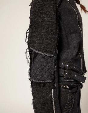 Image 3 ofBlaak For ASOS Patch Wool Biker