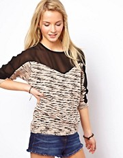 ASOS Jumper with Chiffon Inserts