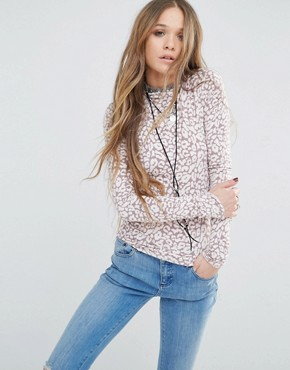 Free People Leopard Jersey Top