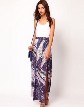 Image 1 ofWarehouse Ditsy Maxi Skirt