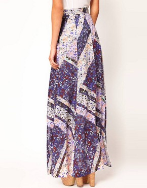 Image 2 ofWarehouse Ditsy Maxi Skirt