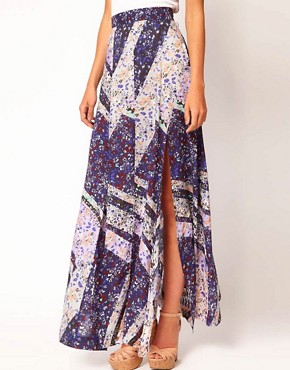Image 4 ofWarehouse Ditsy Maxi Skirt