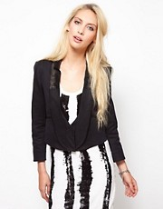 Edun Cropped Tuxedo Jacket