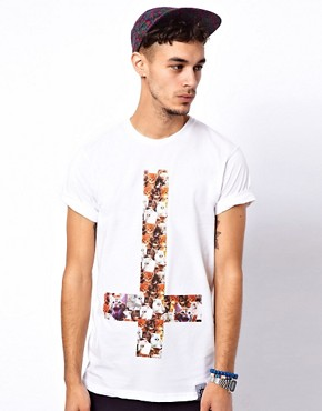Image 1 of Abandon Ship T-Shirt with Kitten Print