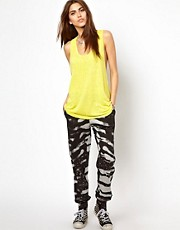 Religion Zebra Print Patterned Track Pants