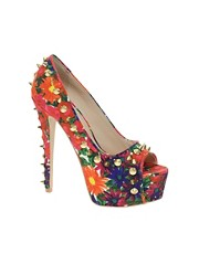 Carvela Garland Multi Print Studded Platform Shoes