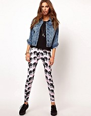 Your Eyes Lie Yin Yang Printed Leggings