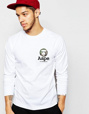 AAPE By A Bathing Ape Long Sleeve T-Shirt With AAPE Badge Print