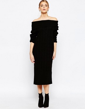 Boohoo Maxi Cable Knit Dress