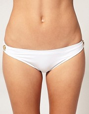 Eda Casablanca Classic Bikini Brief With Gold Buttons