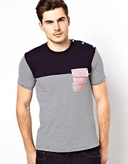 Voi T-Shirt With Oxford Pocket