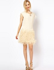 Jovonna Dress With Fringe Skirt