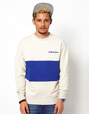 The Hundreds Crew Sweatshirt Balm Centre Panel