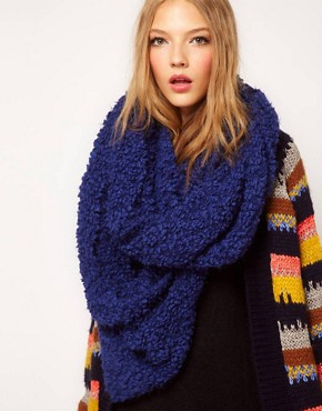 Image 1 ofASOS Fluffy Faux Shearling Snood