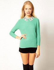 ASOS Jewel Collar Jumper