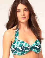 ASOS Leaf Print Fuller Bust Bikini Top