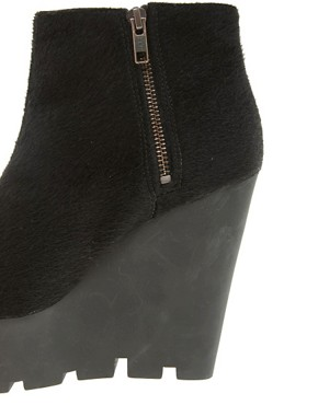 Image 3 ofCheap Monday Monolit Pony Wedge Ankle Boots