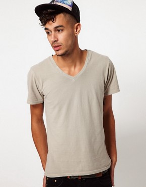 Image 1 of Two Angle V-Neck T-Shirt