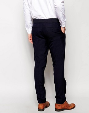 Image 2 ofASOS Slim Fit Smart Trousers in Navy