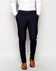ASOS Slim Fit Smart Pants in Navy
