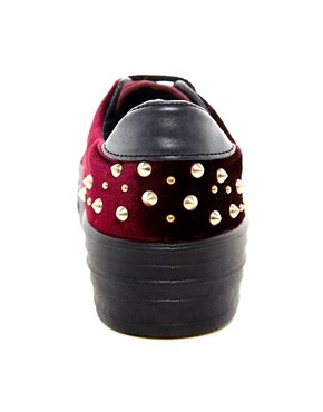 Image 2 ofASOS DEAL Studded Flatform Trainers