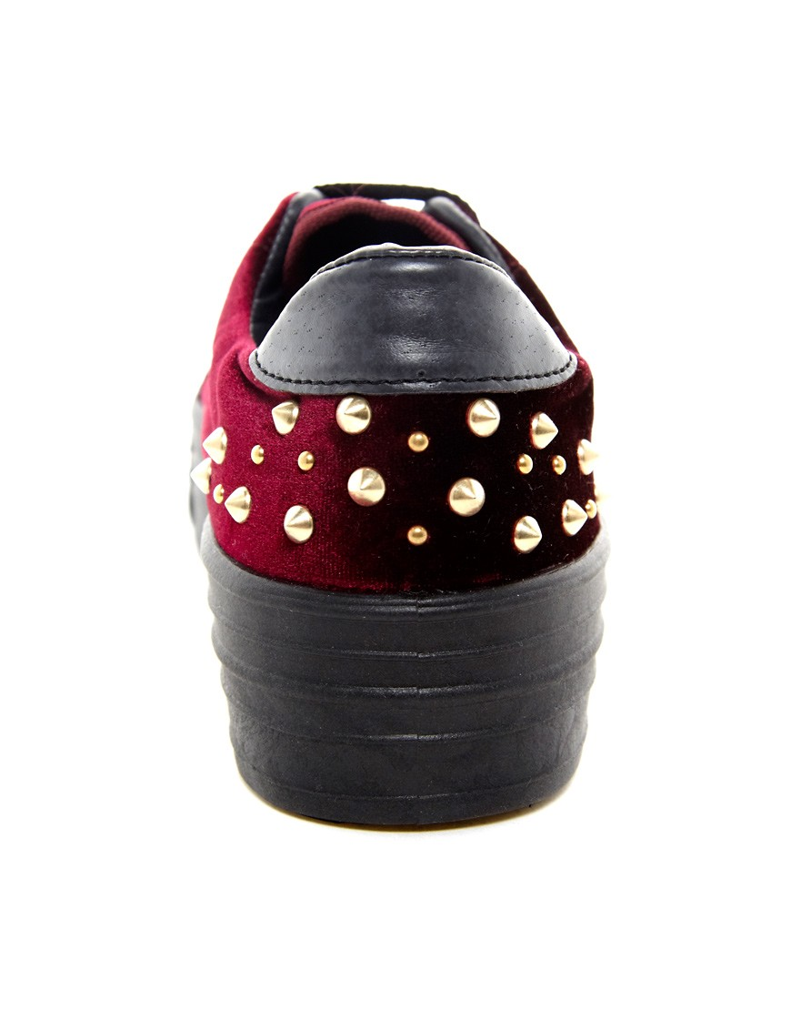 Image 2 of ASOS DEAL Studded Flatform Trainers